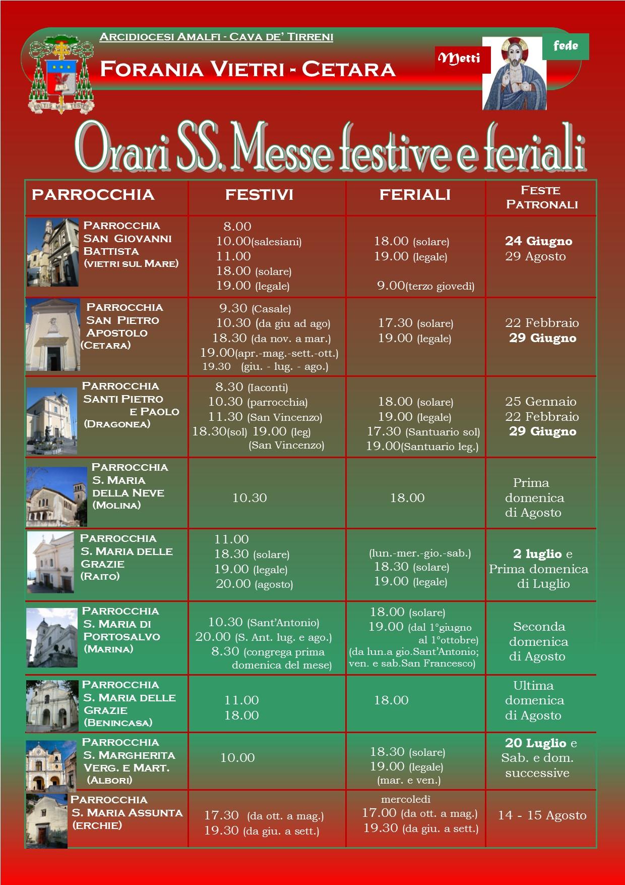 calendario SS. Messe forania (1)