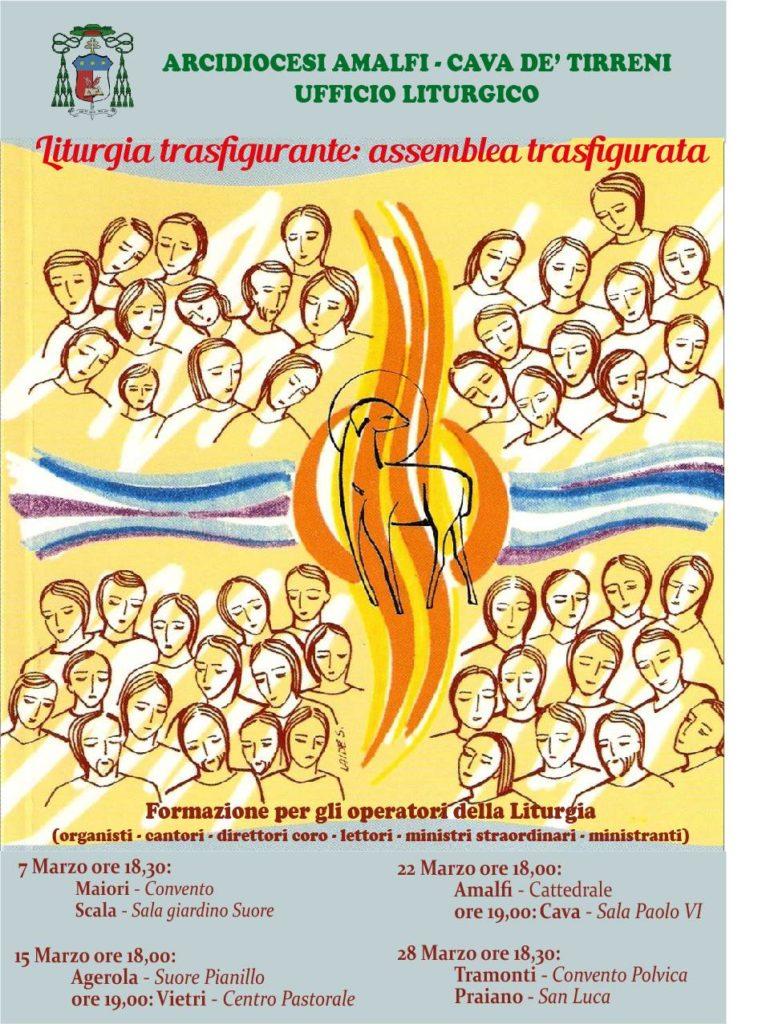 L'UFFICIO LITURGICO DIOCESANO propone percorsi di Formazione per gli operatori della Liturgia