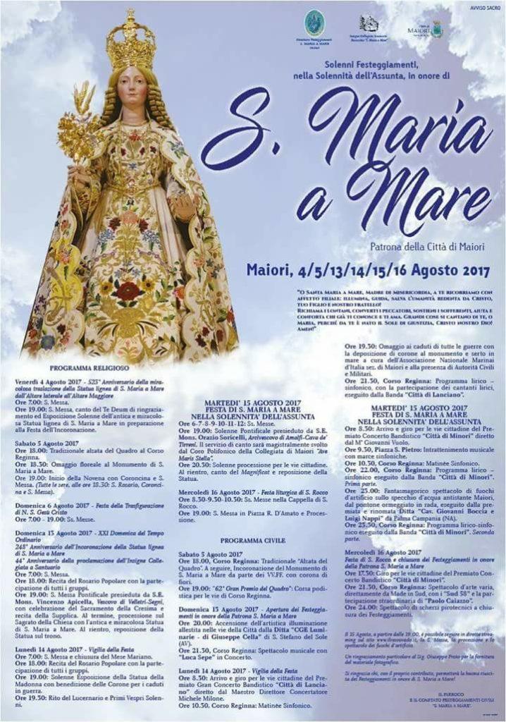 Maiori – Festa del Patrocinio di S. Maria a Mare nella Solennità dell'Assunta