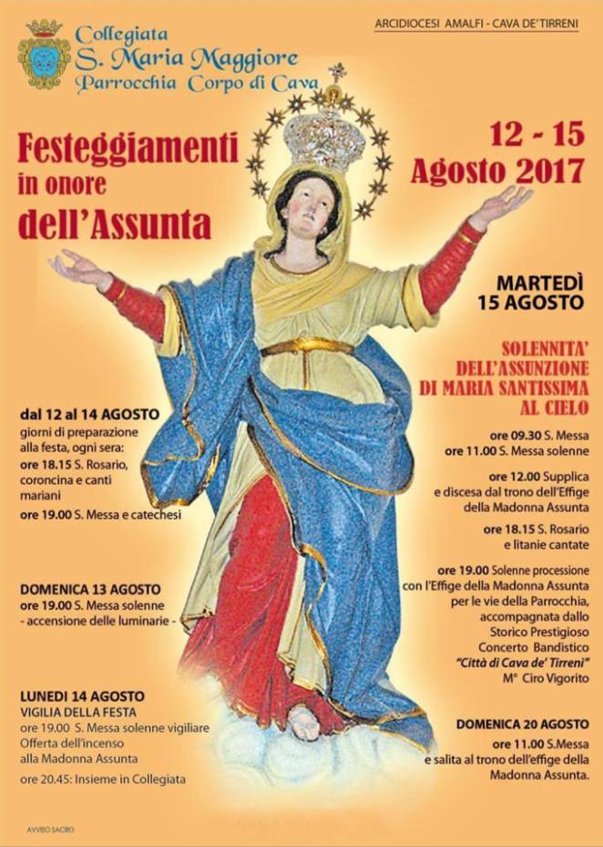 Collegiata S. Maria Maggiore Corpo di Cava  – Festeggiamenti in onore dell'Assunta