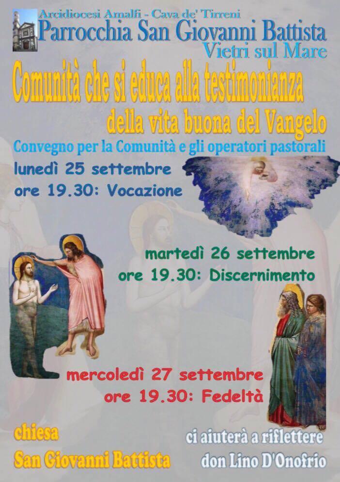 Comunità che si educa alla testimonianza della vita del Vangelo