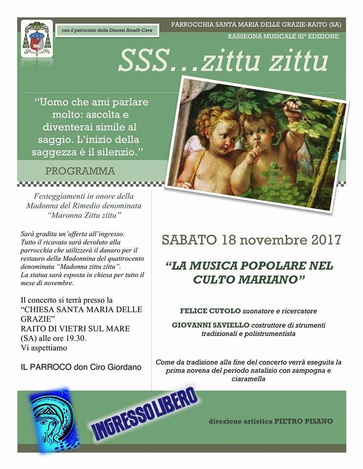 "SSS…zittu zittu  ""la musica popolare nel culto Mariano"""