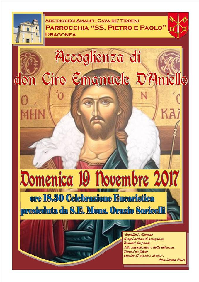 Accoglienza di don Ciro Emanuele D'Aniello