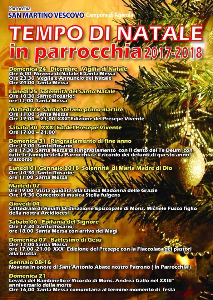 Parrocchia S.Martino Vescovo  Campora di Agerola Tempo di Natale in Parrocchia 2017-2018