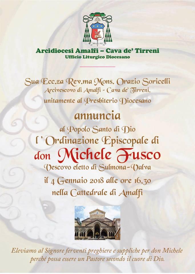 Ordinazione Episcopale di Don Michele Fusco
