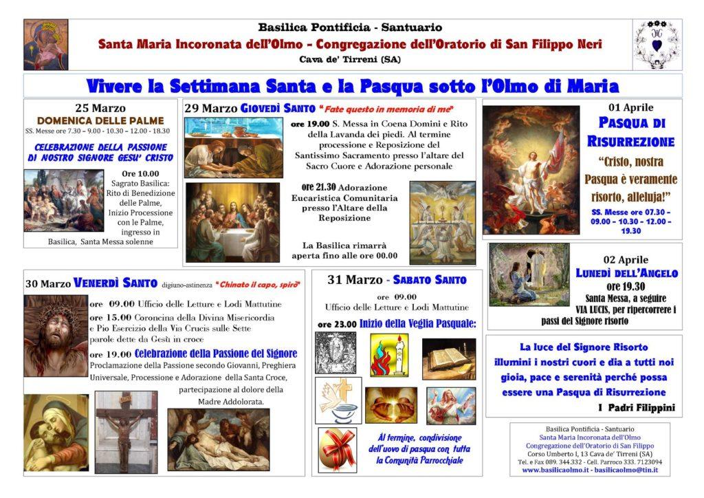 Vivere la Settimana Santa e la Pasqua sotto L'Olmo di Maria