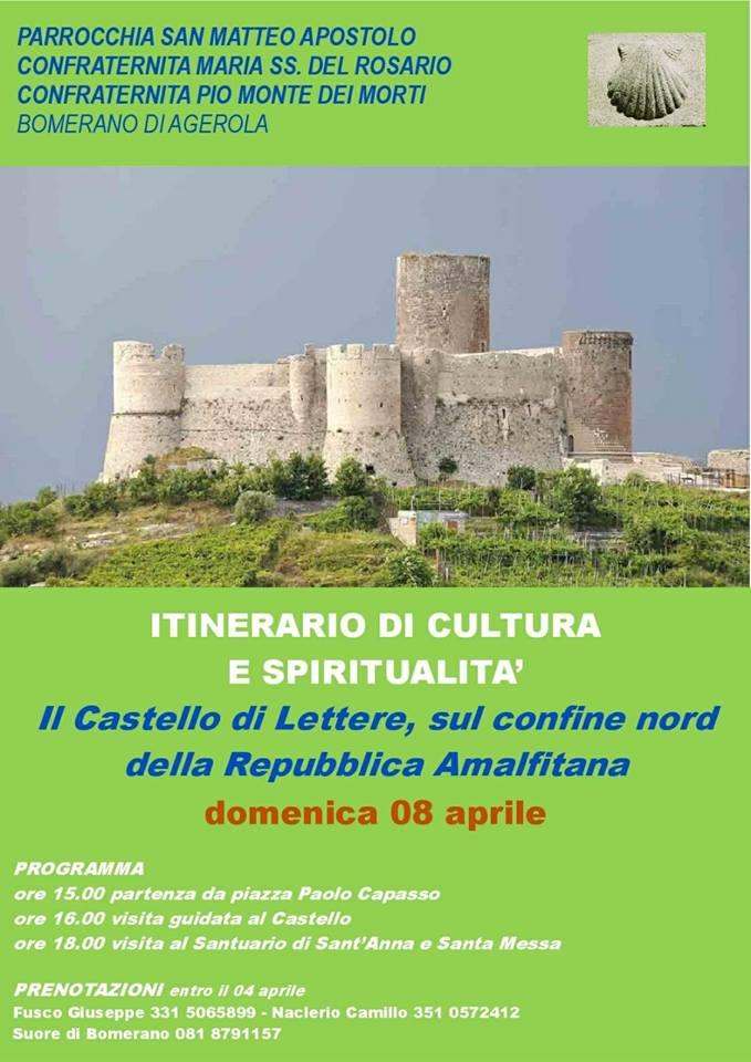Itinerario di cultura e spiritualità Il Castello di Lettere, sul confine nord delle Repubblica Amalfitana