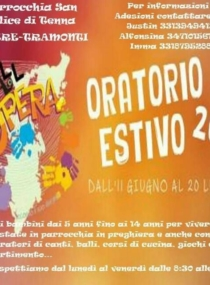 Oratorio Estivo Grest 2018 Parrocchia San Felice di Tenna