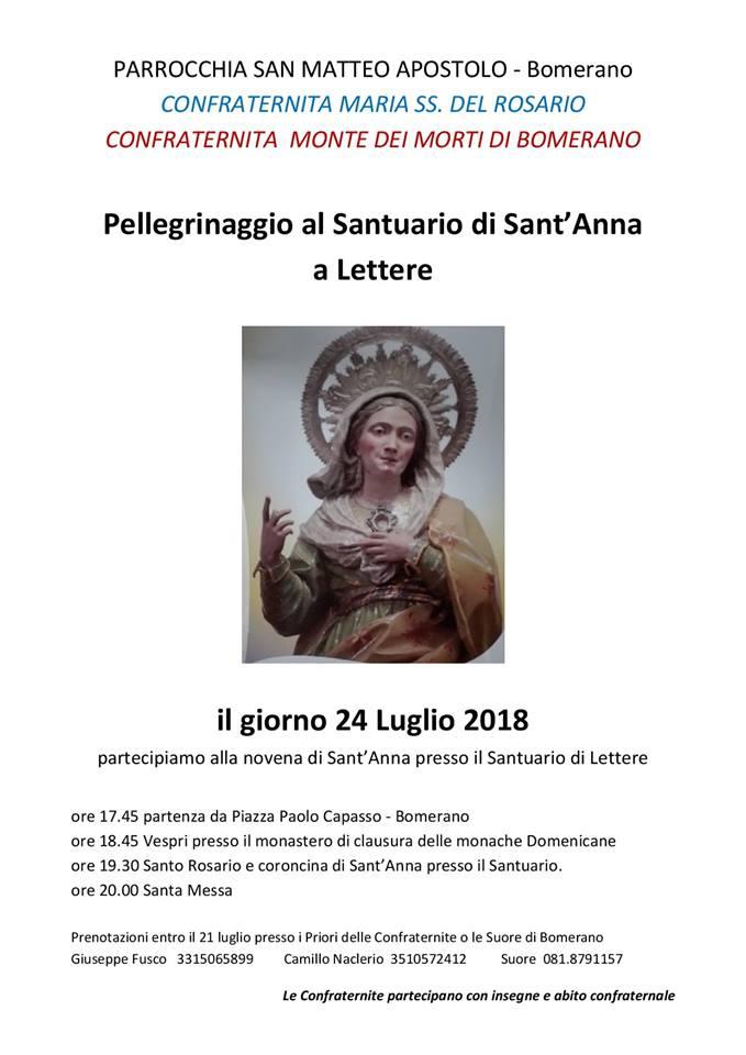 Parrocchia San Matteo Apostolo – Bomerano Pellegrinaggio al Santuario di S'Anna a Lettere