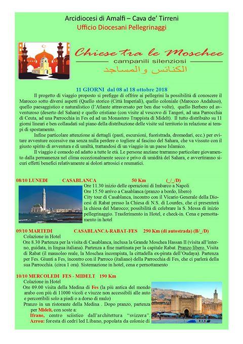 Pellegrinaggio in Marocco  Chiese tra le Moschee Campanili Silenziosi