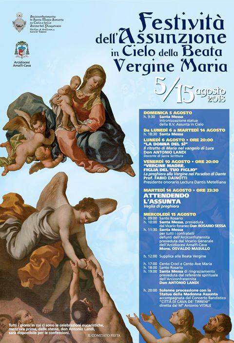 Festività dell'assunzione in Cielo della Beata Vergine Maria