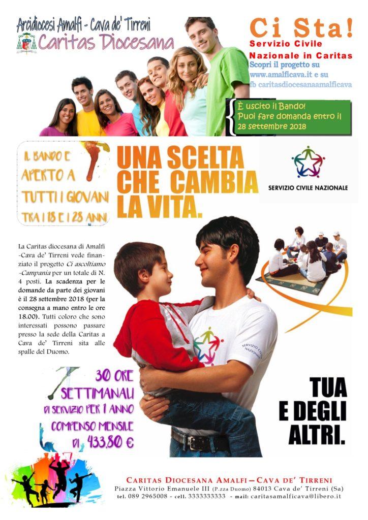 Servizio Civile 2018 – Progetto: Ci Ascoltiamo – Campania