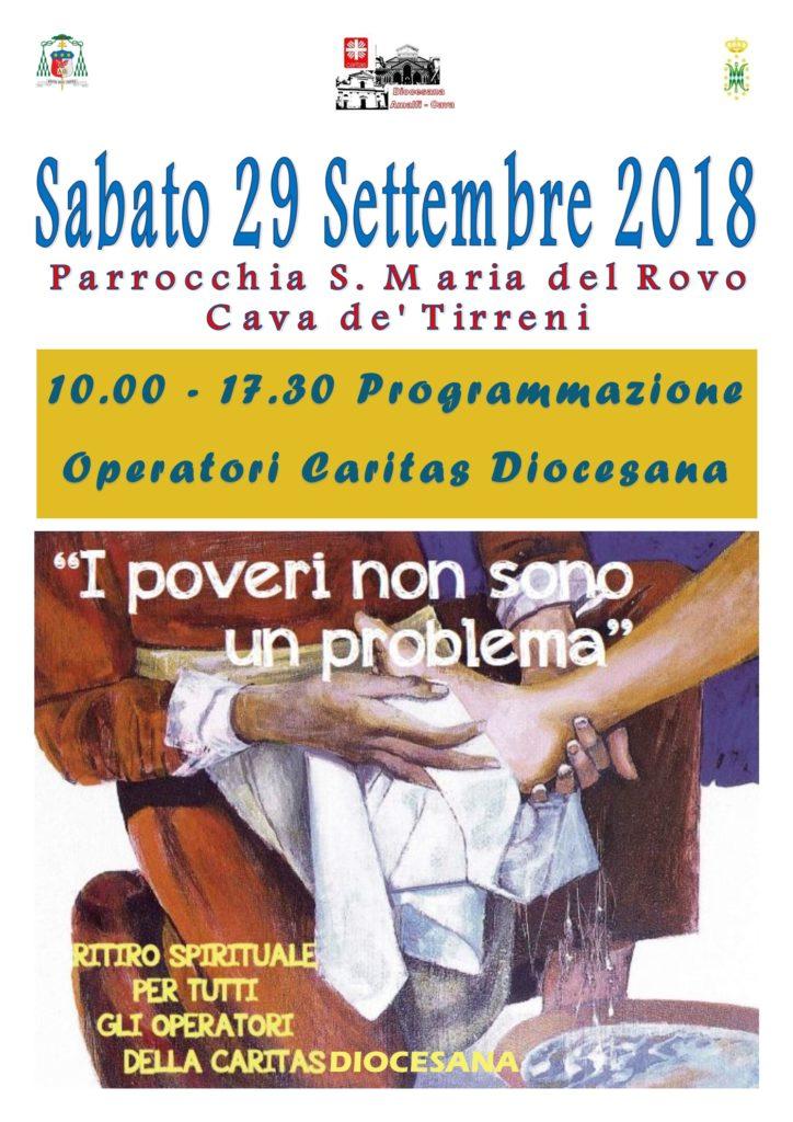 Sabato 29 Settembre: Programmazione Equipe Caritas Diocesana