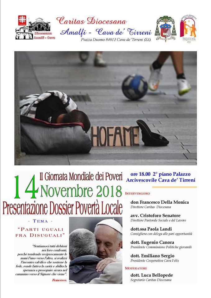 Presentazione dei dati sulla Povertà Locale – Palazzo Arcivescovile di Cava Mercoledì 14 novembre 2018 ore 18.00.