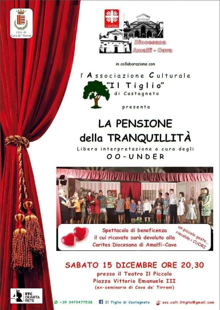 Spettacolo di beneficenza il cui ricavato sarà devoluto alla Caritas Diocesana di Amalfi-Cava de' Tirreni