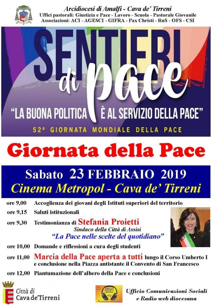 """Sentieri di pace  """"La buona politica è al servizio della pace"""""""