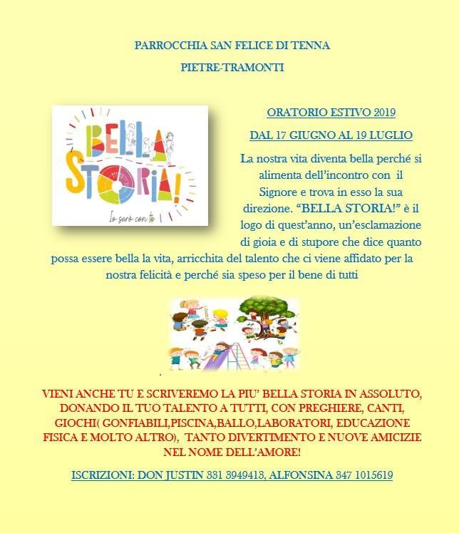 Parrocchia San Felice di Tenna – ORATORIO ESTIVO 2019