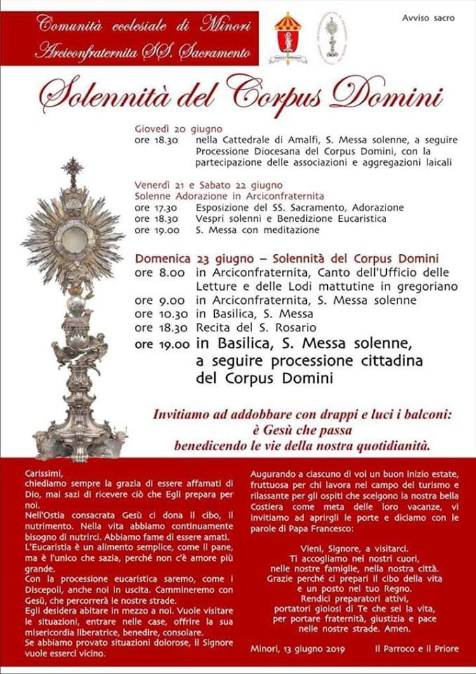 Comunità Ecclesiale di Minori – Solennità del Corpus Domini