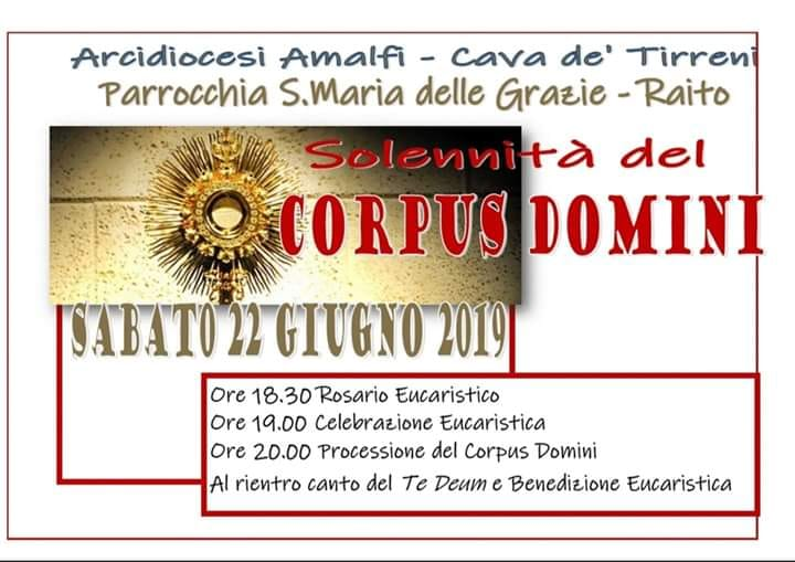 Parrocchia S. Maria delle Grazie – Raito – Solennità del Corpus Domini