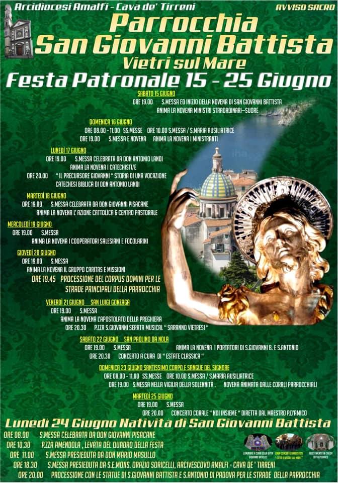 Parrocchia S. Giovanni Battista – Festeggiamenti in onore di San Giovanni Battista