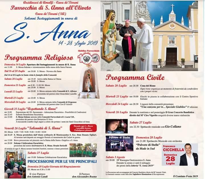 Parrocchia di S. Anna all'Oliveto – Programma Religioso