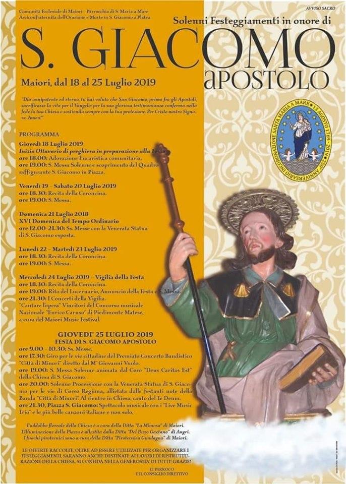 Parrocchia S. Maria a Mare – Maiori Solenni Festeggiamenti in onore di S. Giacomo apostolo