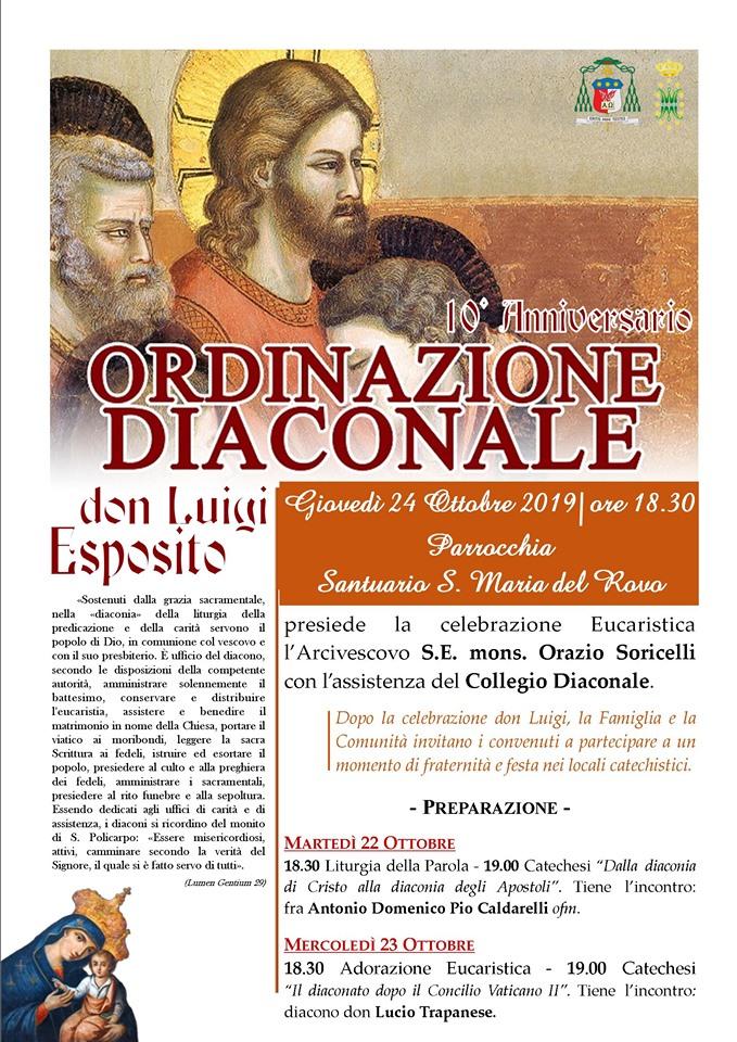 10° Anniversario Ordinazione Diaconale Don Luigi Esposito