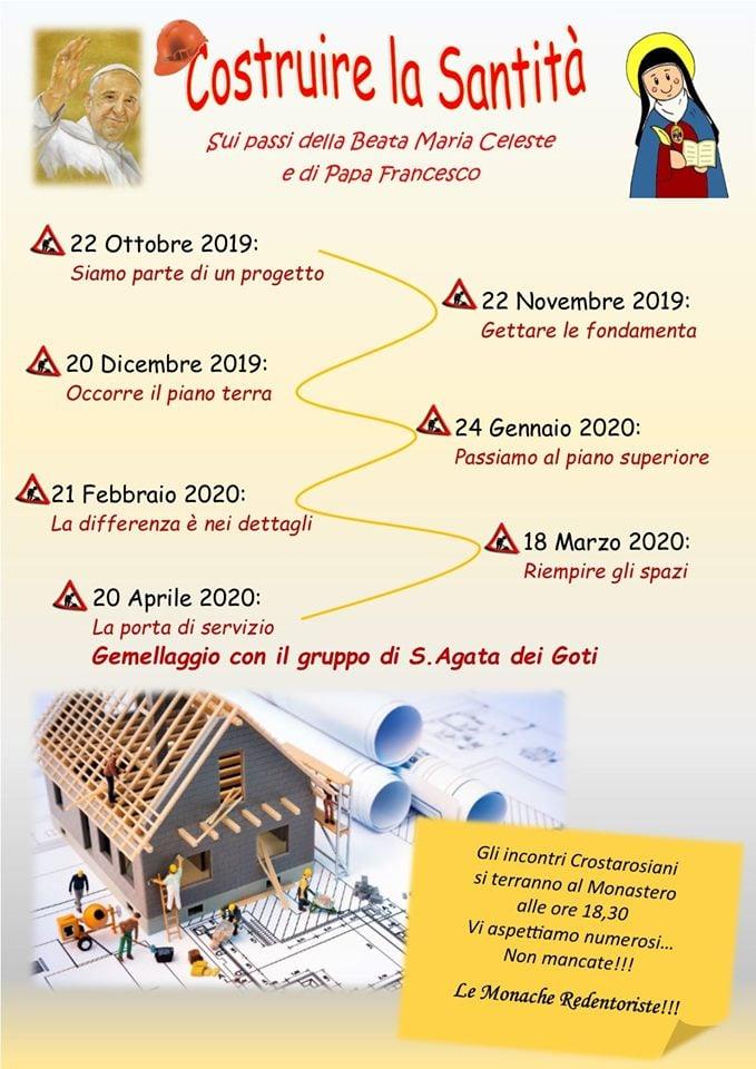 """Monache Redentoriste di Scala – """"Costruire la Santità"""" Incontri di spiritualità crostarosiana per i laici!"""