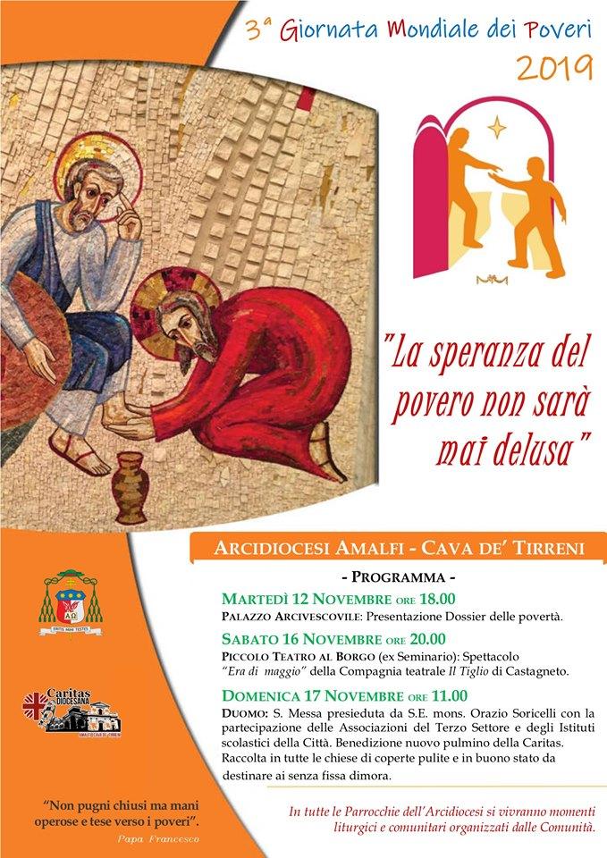 Caritas Diocesana Amalfi – Cava  3°Giornata Mondiale dei Poveri 2019