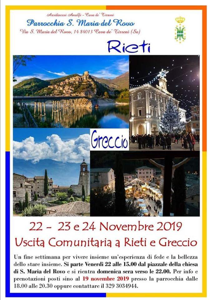 Parrocchia S. Maria del Rovo – Uscita Comunitaria a Rieti e Greccio