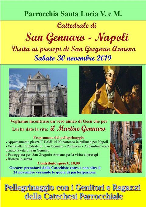 Parrocchia Santa Lucia V.e M. – Visita alla Cattedrale di San Gennaro – Napoli