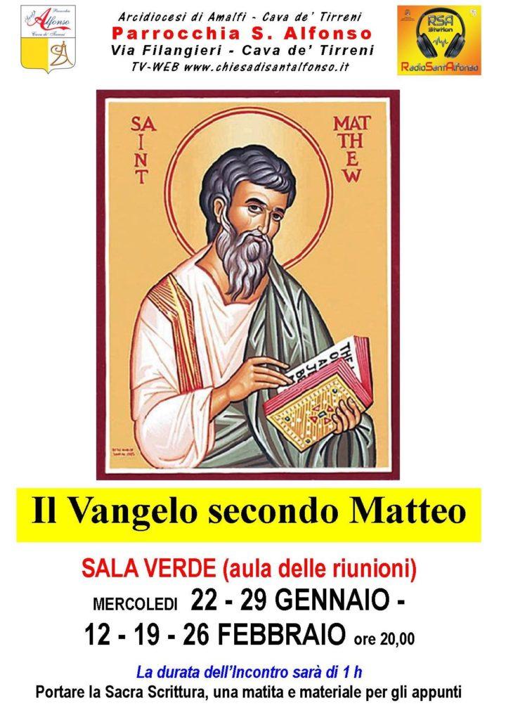 """Parrocchia S. Alfonso Maria De' Liguori – Catechesi """"il Vangelo secondo Matteo"""""""