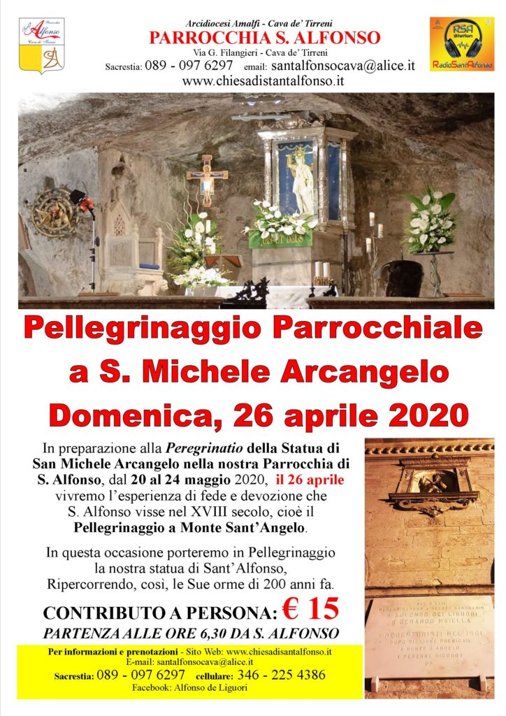 Parrocchia S. Alfonso Maria De' Liguori – Pellegrinaggio Parrocchiale a S. Michele Arcangelo
