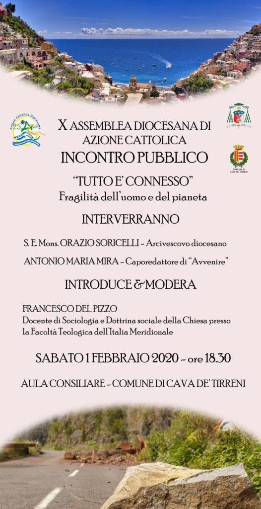 """X Assemblea Diocesana di Azione Cattolica – Incontro pubblico """" Tutto é connesso"""" Fragilità dell'uomo e del pianeta"""