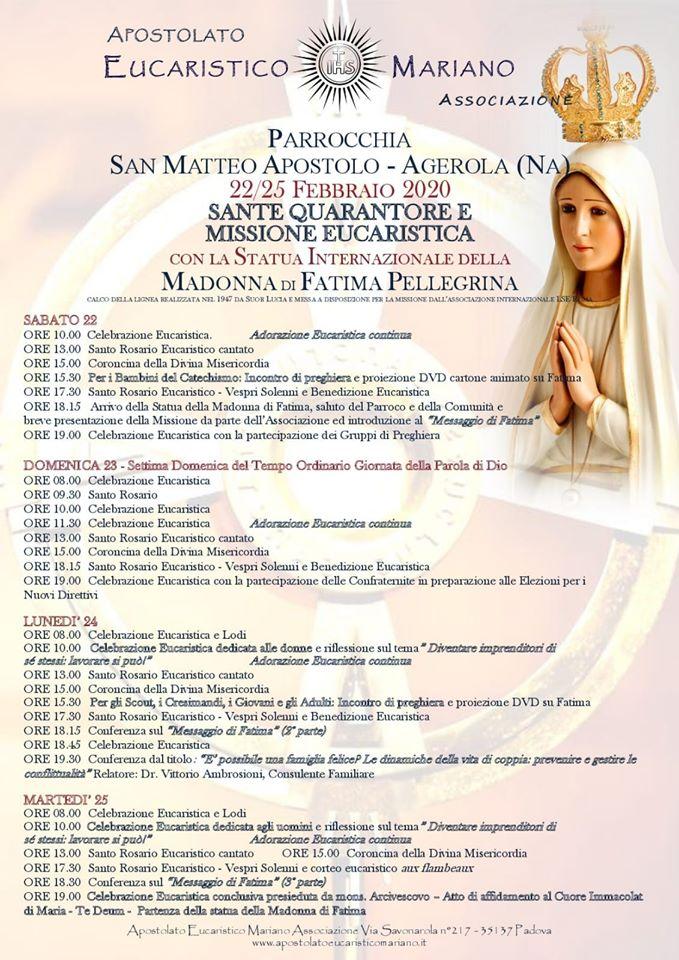 "Parrocchia San Matteo Ap – Agerola ""Apostolato Eucaristico Mariano"""