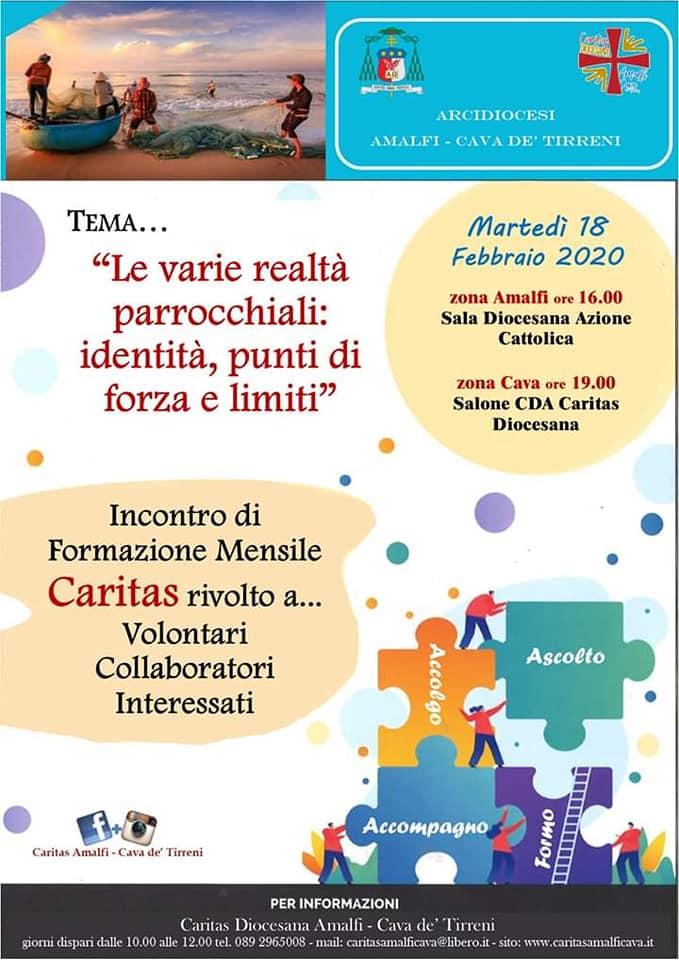 """Caritas Diocesana Amalfi – Cava de' Tirreni """"Le varie realtà parrocchiali: identità, punti di forza e limiti"""""""
