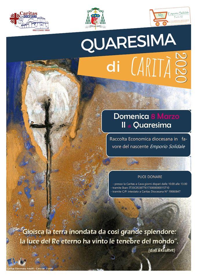 Quaresima di Carità 2020 Colletta diocesana per il nascente Emporio Solidale Paolo VI