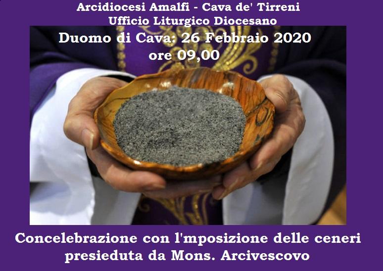 """Ufficio Liturgico Diocesano """"Concelebrazione con l'imposizione delle ceneri presieduta da Mons. Arcivescovo"""""""