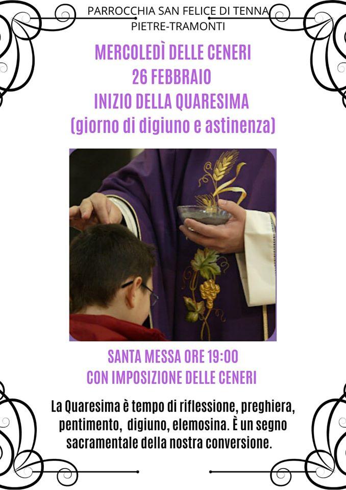 """Parrocchia San Felice di Tenna Pietre – Tramonti mercoledi delle ceneri """"Inizio della Quaresima"""" www.diocesiamalficava.it"""