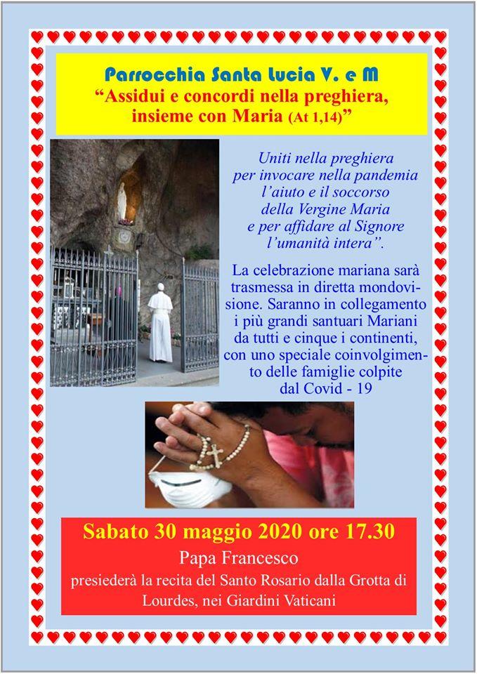 """Parrocchia S.Lucia V.eM. """"Assidui e concordi nella preghiera insieme con Maria"""""""