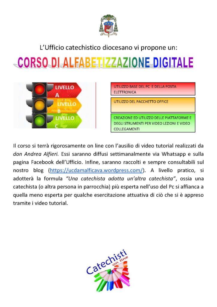 Ufficio Catechistico Diocesano Amalfi – Cava vi propone un: Corso di alfabetizzazione digitale