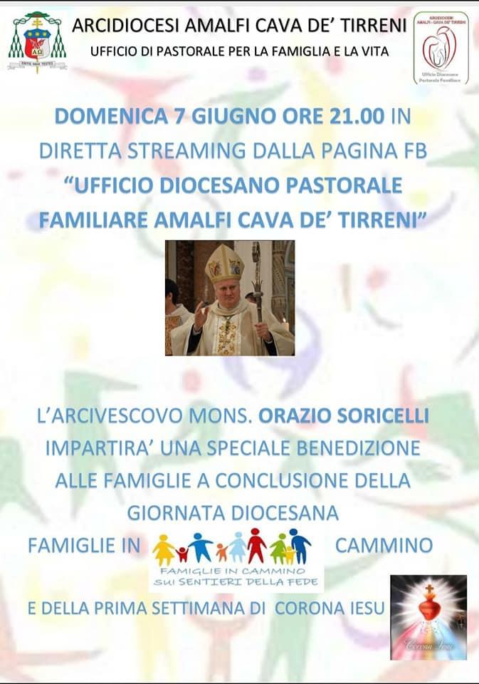 """Ufficio Diocesano Pastorale Familiare Amalfi – Cava """"Sia un'iniziativa condivisa da tutti, pur nelle limitazioni, restiamo famiglia che ama e si mette in cammino…sui sentieri della fede"""""""
