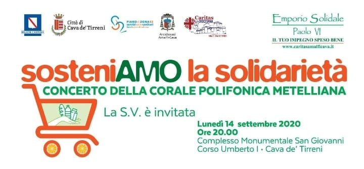 "Caritas Diocesana Amalfi – Cava ""Sosteniamo la solidarietà"""