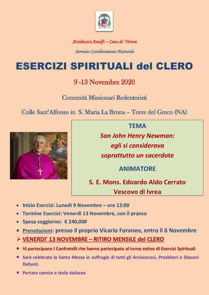"""Servizio Coordinamento Pastorale """"Esercizi Spirituali del Clero"""""""