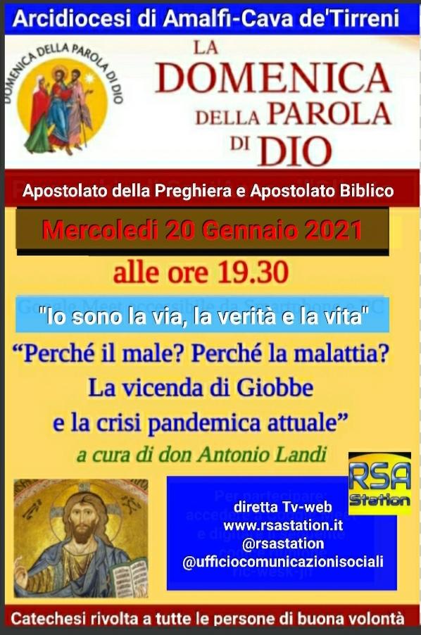 """La Domenica della parola di Dio """"Apostolato della Preghiera e Apostolato Biblico"""""""