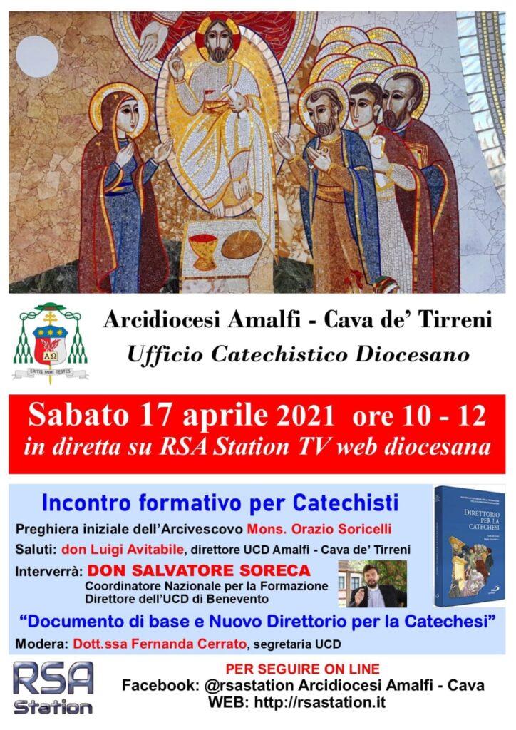 """Ufficio Catechistico Diocesano Amalfi – Cava  """"Incontro formativo per catechisti"""""""