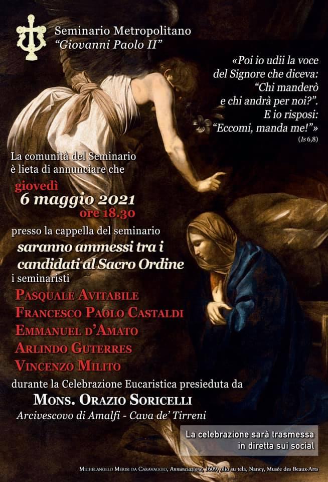 Con gioia e gratitudine, vi annunciamo il primo passo verso il Sacerdozio, dei seminaristi Vincenzo Milito, Pasquale Avitabile.