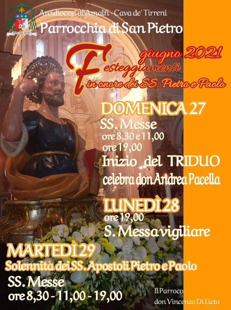 Parrocchia di S. Pietro – Festeggiamenti in onore di SS. Pietro e Paolo