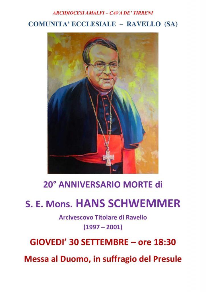 Comunità Ecclesiale – Ravello 20° Anniversario morte di S. E. Mons. Hans Schwemmer