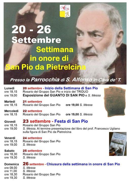 Parrocchia S. Alfonso Maria de'Liguori – Settimana in onore di S. Pio da Pietralcina